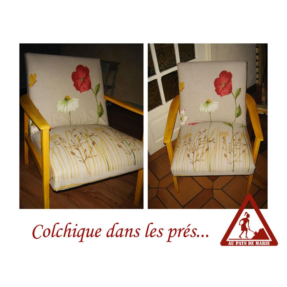 Fauteuils chaises tabourets poufs - Colchique dans les pres ...