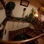 escalier de bois...