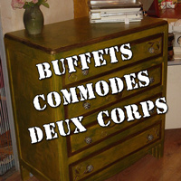 Photos : Buffets, commodes, deux corps